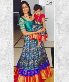 Order contact my whatsapp number 7874133176 Mom And Baby Dresses, Mother Daughter Dresses Matching, Mother Daughter Fashion, Girls Dresses, Mom Daughter, Long Gown Dress, Sari Dress, Saree Blouse, Dress Skirt