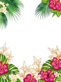 "Photo from album ""Cutouts on- Photo from album ""Вырезы on Irishka-Manyushka – …"" on Yandex. Flamingo Birthday, Flamingo Party, Flower Background Wallpaper, Flower Backgrounds, Thema Hawaii, Luau Party Invitations, Invitation Background, Hawaiian Theme, Tropical Party"