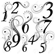 Number font