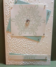 #Flurry of Wishes, #Winter Card made by Helga Brown from Cardblanche, Stampin'Up only.