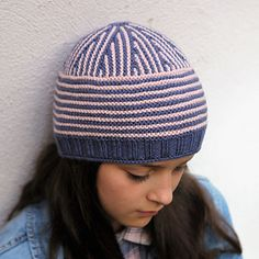 This beanie is unique! Shaped by short rows it is knitted top down.