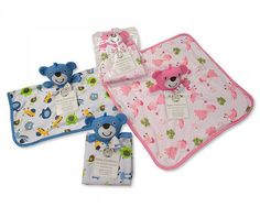 Baby Teddy Bear Comforter Soft Blanket Newborn  Gift Blue Pink Boy Girl   | eBay