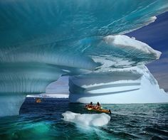 Kayaking through an iceberg graveyard in Pleneau Bay on the Antarctic Peninsula. This photo by Jamie Scarrow was one of the winners in the Great Outdoors photo contest for PDN / National Geographic.