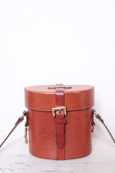 Vintage Unique Brown Leather Binocular Case, Perfect to Use as a Purse, Brand Joan & David