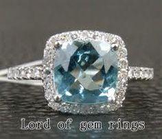 Aquamarine engagement ring #3