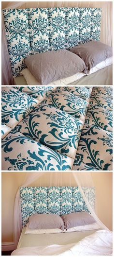 Easy Upholstered Tufter Headboard Tutorial Suuuper simple DIY Upholstered Headboard… anyone can do this one! {Reality Daydream} Related posts: The Easy Way To Make An Upholstered DIY Headboard Remodelaholic Kids Bedroom Furniture, Diy Furniture, Bedroom Decor, Diy Headboards, Headboard Ideas, Diy Upholstered Headboard, Diy Fabric Headboard, Quilted Headboard, Headboard Designs