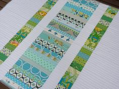 Coin Quilt ~ Backing great colors with straight quilting