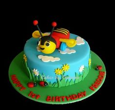Buzzy Bee Birthday Cake, New Zealand Buzzy Bee Cake Bee Birthday Cake, 8th Birthday, First Birthday Parties, First Birthdays, Birthday Ideas, Bee Cakes, Cupcake Cakes, Waitangi Day, Kiwi Cake