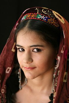 Pamiri girl, Tajikistan  Around the world via internet  and what a wonderful world we live in