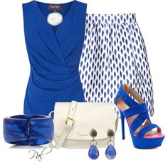Farb-und Stilberatung mit www.farben-reich.com - White and Blue, created by pamlcs on Polyvore
