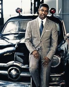 """Denzel Washington: Denzel Hayes Washington, Jr. (born December 28, 1954) in """"American Gangster"""" Sharp Dressed Man, Well Dressed Men, Bespoke, Vogue Photoshoot, Black Actors, Elegant Man, Denzel Washington, Grown Man, Hollywood Actor"""