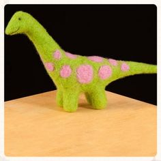 dino needle felting kit from woolpets