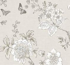 Country French Cottage Wallpaper  Wildflower Botanical Etched   Etsy