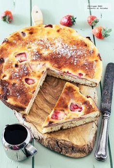 Directo al Paladar - Pastel de queso y fresas. Receta