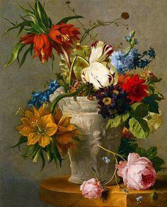 Georgius Jacobus Johannes van Os (1782-1861) — Still Life of Flowers (1181×1469)