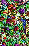 d-c-fix® Sticky Back Plastic (self adhesive vinyl window film) Stained Glass Effect Tulia 90cm x 1m (ORDER PER METRE) 200-5598