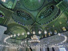 mosque blue chandelier