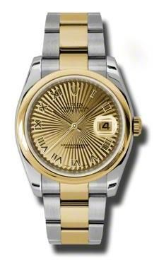 Rolex Datejust Champagne Dial Automatic  Stainless Steel and 18K Yellow Gold Mens Watch 116203CSBRO</h1>