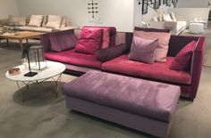 Cocoon Sectional in Mulberry from Eilersen.