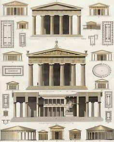 European Architecture — Greek temple plans