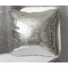 Sparkling Silver Cushion Cover