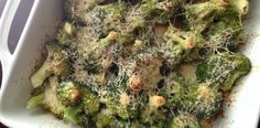 Roasted Parmesan Broccoli. Only 3 ingredients and packed with flavor and nutrition! Bariatric recipes and low carb cooking at www.foodcoach.me