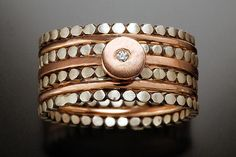 Ellipsis Stack Rings: Rose Gold by Linda Bernasconi: Gold, Silver, and Stone Rings available at www.artfulhome.com