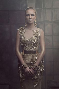 the gold-themed designs from Amato Haute Couture