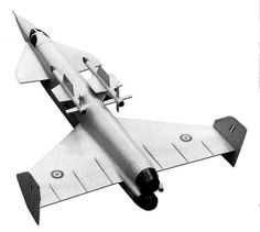 The Vickers Type 559 was a supersonic interceptor aircraft design by the British aircraft company Vickers-Armstrongs and was their submission for Operational Requirement in Military Weapons, Military Aircraft, Air Force, Airplane Design, Aircraft Painting, Experimental Aircraft, Concept Ships, Aircraft Design, Vintage Design