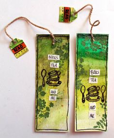 punk projects: Tea Mixed Media Bookmarks