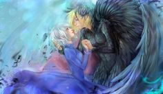 """Howl and Sophie by kuroi-onee.deviantart.com on @deviantART - From Miyazaki's """"Howl's Moving Castle"""""""