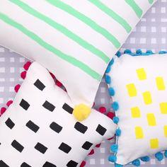 DIY Embellished Throw Pillows