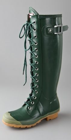 hunter lace up boots