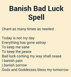 Banish bad luck