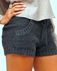 Cozy Gray Sweater Shorts