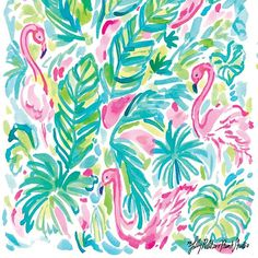 Pin by catrina c. on art & illustration Lily Pulitzer Painting, Lilly Pulitzer Iphone Wallpaper, Lilly Pulitzer Patterns, Lilly Pulitzer Prints, Iphone Backgrounds Tumblr, Spring Wallpaper, Wall Paper Phone, Illustration Art, Artwork