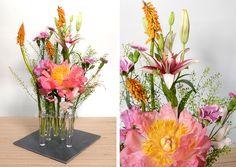 Farbenfrohe Tischdeko zu Pfingsten #vase #tischdeko #blumen