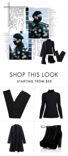 """""""All Black - Tae"""" by jina-7 on Polyvore featuring Yves Saint Laurent and Rumour London"""