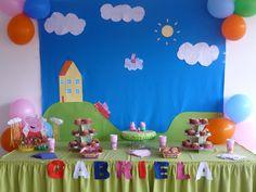 Peppa Pig / Peppa La Cerdita Third Birthday, 3rd Birthday Parties, Birthday Party Decorations, Party Themes, Cumple Peppa Pig, Pig Birthday Cakes, Birthday Frames, Pig Party, Birthday Pictures