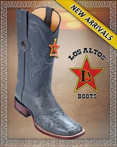 georgetowncowboyboots -  LOS ALTOS BOOTS OSTRICH W/SADDLE WESTERN BOOTS WIDE SQUARE TOE ,Black Cherry,Gray ,Cognac, $299.00 (http://www.georgetowncowboyboots.com/los-altos-boots-ostrich-w-saddle-western-boots-wide-square-toe-black-cherry-gray-cognac/)