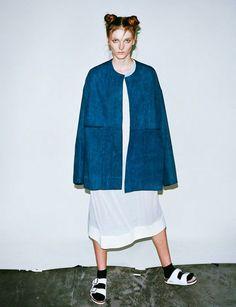 #denim #coat #indigo #birkenstock