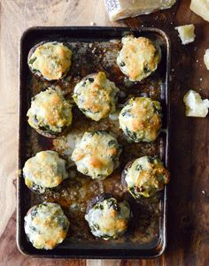 The most amazing stuffed mushroom recipes. Serve these spinach, bacon and artichoke stuffed portobellos at your next party