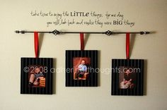 curtain rod hanging picture frames