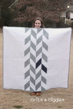 A Herringbone Quilt {Tutorial} - Grits and Giggles