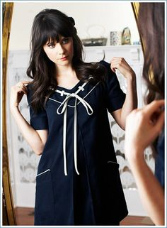 I adore pretty much everything I've ever seen Zooey Dechanel wear, and this dress is no exception.