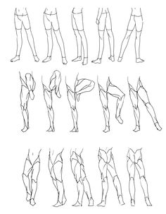 """Legs Movement/Rotation"" (Part1) Reference Sheet Art Drawing Tips 