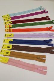 10 ykk ritsen diverse kleuren
