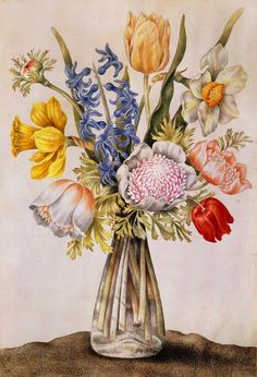 Vase of Flowers by Giovanna Garzoni on Curiator, the world's biggest collaborative art collection. Art Floral, Illustration Botanique, Illustration Blume, Botanical Flowers, Botanical Prints, Flower Vases, Flower Art, Still Life Art, Antique Prints