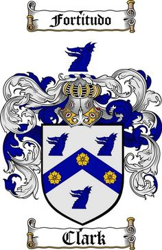 CLARK FAMILY CREST -  CLARK COAT OF ARMS gifts available at WWW.4CRESTS.COM #heraldry #family #crest #shield #crests #shields #genealogy #coatofarms