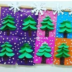 Crafts For Kids, Winter Time, Christmas, Kunst, Crafts For Children, Kids Arts And Crafts, Kid Crafts, Craft Kids